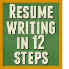 Resume writing in 12 steps