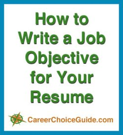 How to write resume job objectives