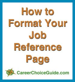 How to format your job reference page