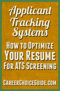 Series of articles about writing ATS optimized resumes.