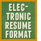 Description, formatting instructions, and example of the electronic resume format