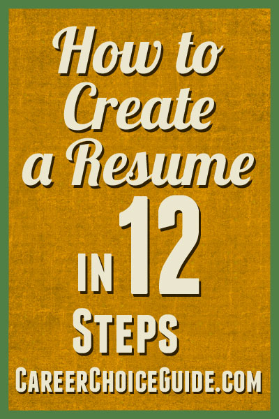 How To Create A Resume In  Steps