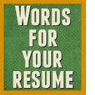 Keywords, descriptive words, and action words