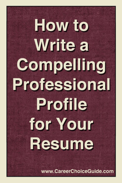 How to write compelling resume profiles
