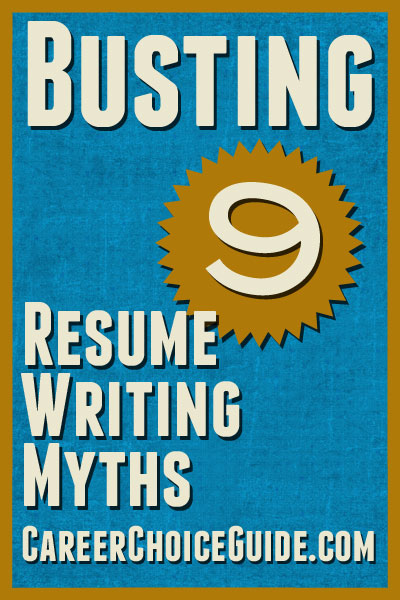 Important Resume Writing Information   Busting 9 Job Search Myths  Resume Writing Articles