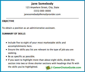 Sample Resume Heading  Resume Reference Sheet