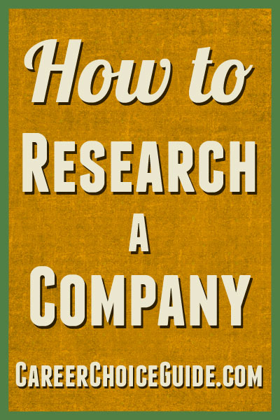 How to research a company for a job interview