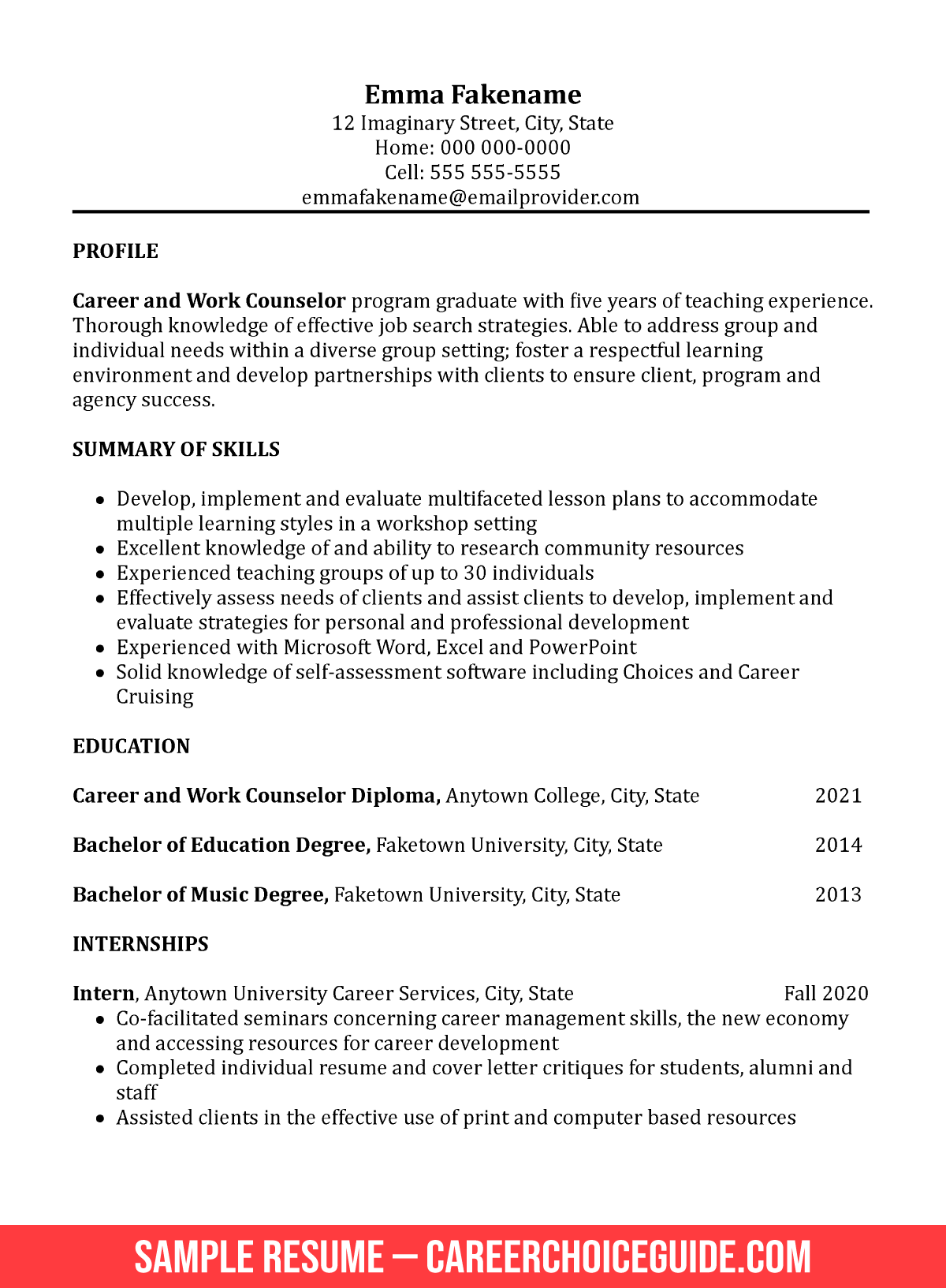 career change resume sample