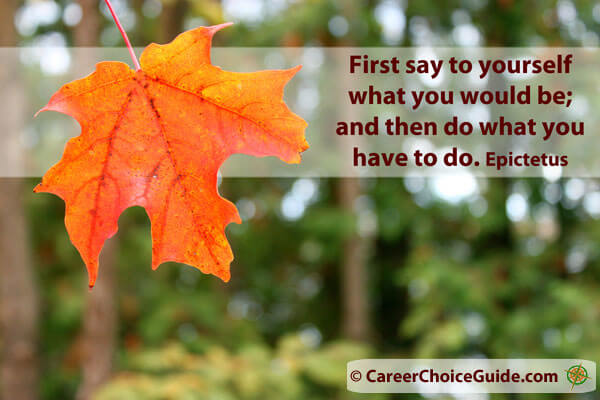 First say to yourself what you would be...Epictetus Quote