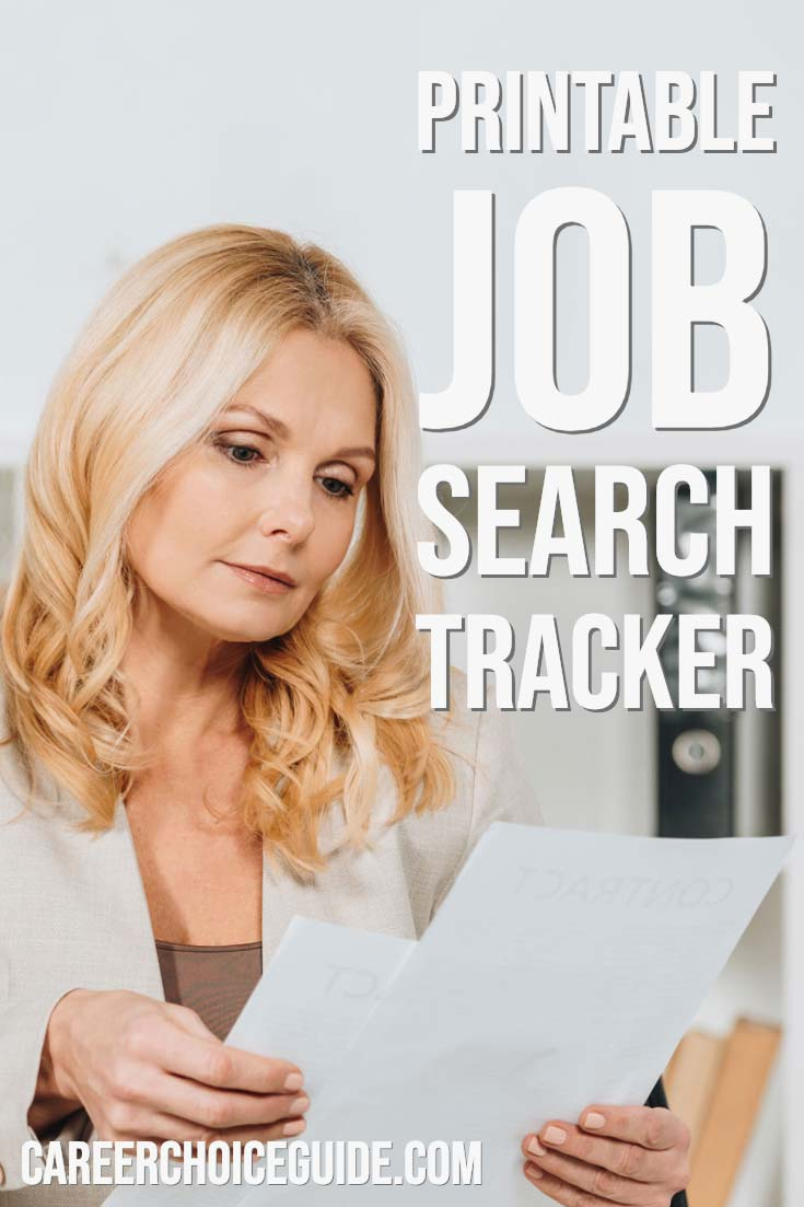 Printable job search tracker