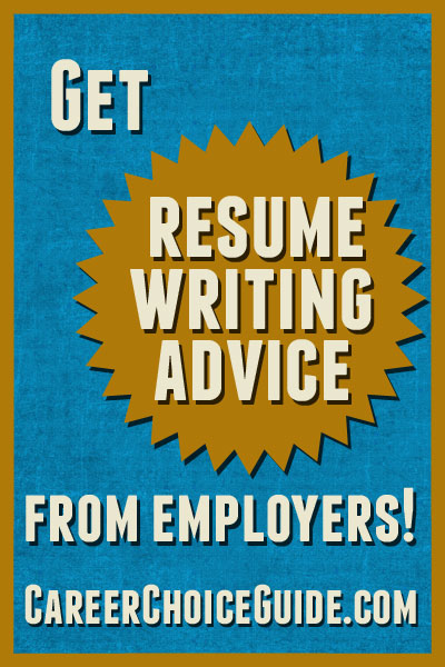 Resume writing advice from employers