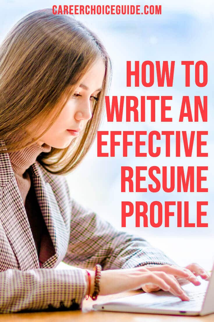 How to write an effective resume profile.