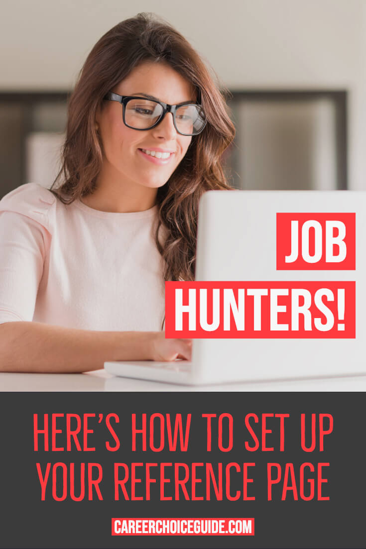 Job hunters! Here's how to set up your resume reference page.