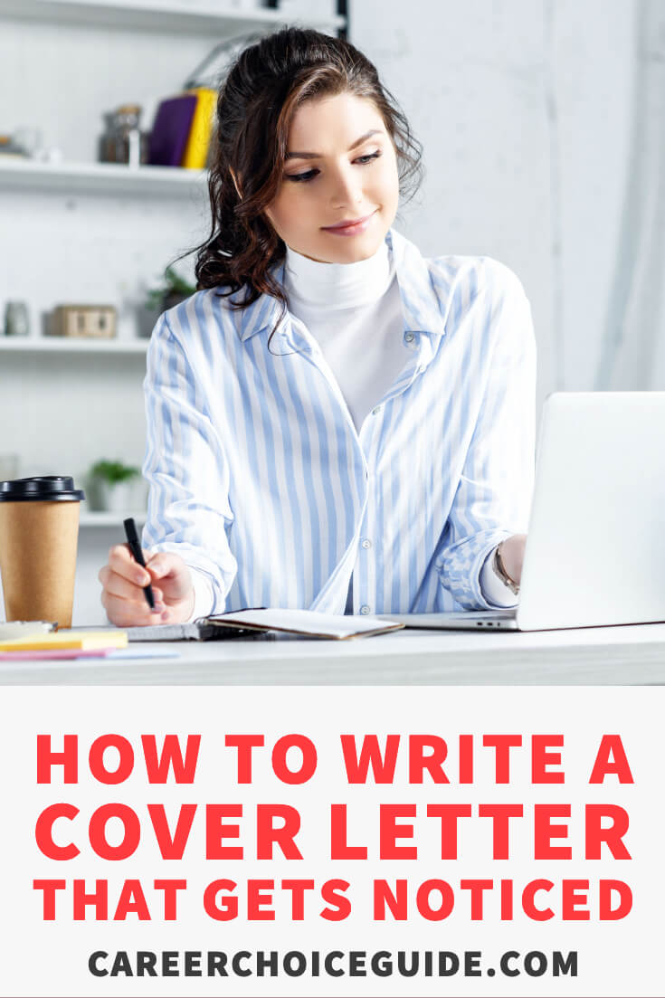 How to write a cover letter that gets noticed.